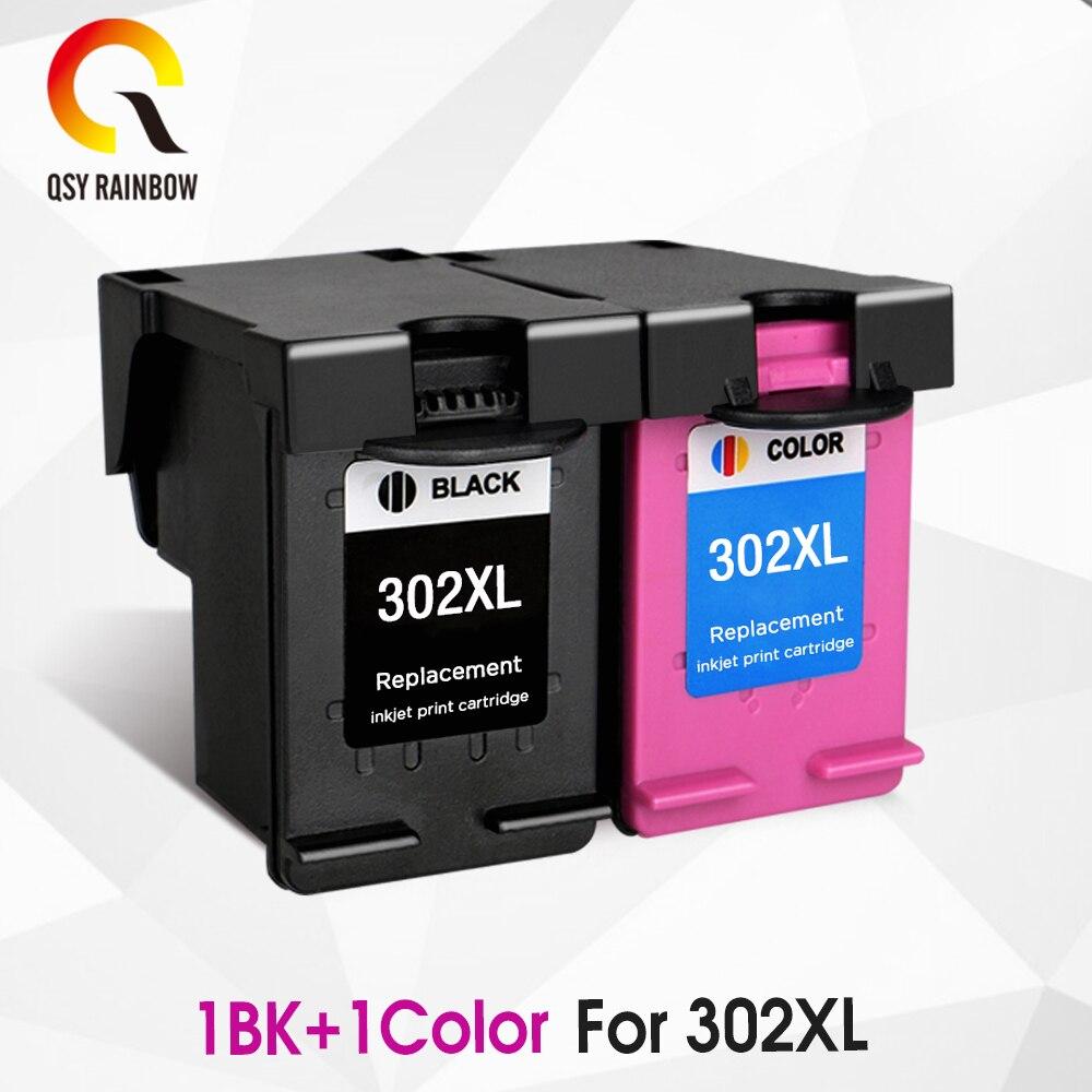 CMYK 302XL cartucho reprocesado de repuesto para HP 302 HP302 XL cartucho de tinta para Deskjet serie 1110, 1111, 1112, 2130, 2131 impresora
