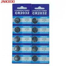 15Pcs/3card JNKXIXI Bateria CR2032 3V Lithium Button Battery BR2032 DL2032 ECR2032 CR 2032 Batteries