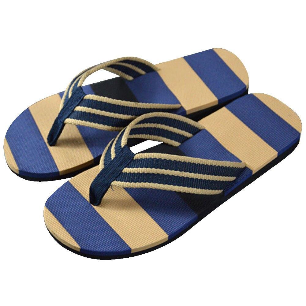 552d79642a81 2018 Fashion Men Flip flops Summer Stripe Flip Flops Shoes Sandals  Breathable slides Mens Brand Designer comfort Flats For Men