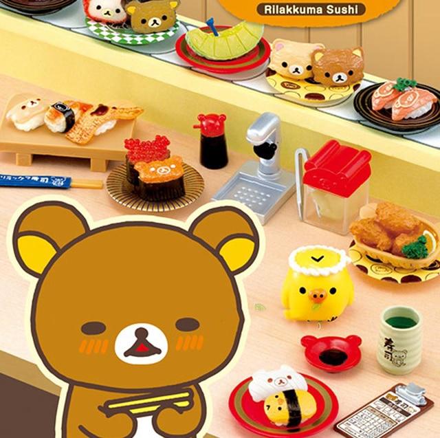 Food Toys For Girls : Japanese original box gashapon rilakkuma sushi lunch