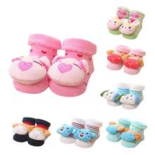 2017 Baby Shoes Socks Children Infant Cartoon Newborn Baby Girls Boys Anti-Slip Socks Slipper Bell Shoes Boots calcetines BTTF(China)