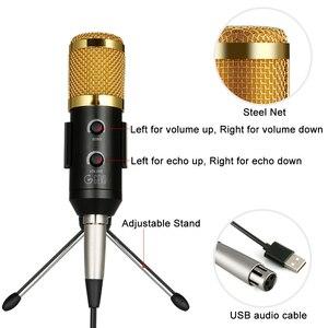 Image 2 - Usbli mikrofon 192KHZ/24BIT kondenser mikrofon seti Podcast mikrofon bilgisayar stüdyosu mikrofon ile profesyonel ses yonga seti