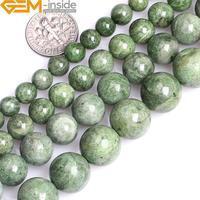 8/10/12/14mm Naturel Rond Vert Diopside Pierre Pierre Semi Précieuse Perles Pour Fabrication de Bijoux brin 15 Pouce En Gros