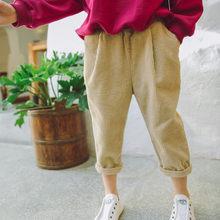 792a1bf10 Nouveau Printemps Enfants En Velours Côtelé de Harem Pantalon Casual Filles  Lâche Styles Rayé Pantalon 2018 Mode Enfant Bébé Gar.