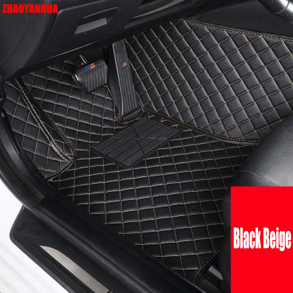 Zhaoyanhua car floor mats for bmw x3 e83 f25 pvc leather car styling rugs carpet all weather waterproof liners 2004 present