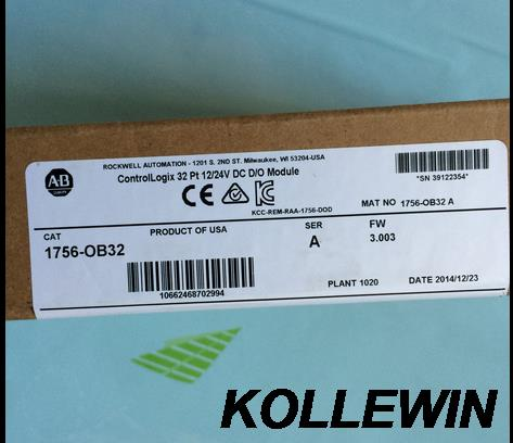 Freeship New Original Allen Bradley PLC module 1756-OB32 ControlLogix 32 Pt 12/24VDC D/O Module 1756OB32(1756 OB32) 1yearwarrant allen bradley 1756 of8 1756of8 controllogix 8 pt a o i or v module new and original 100% have in stock free shipping