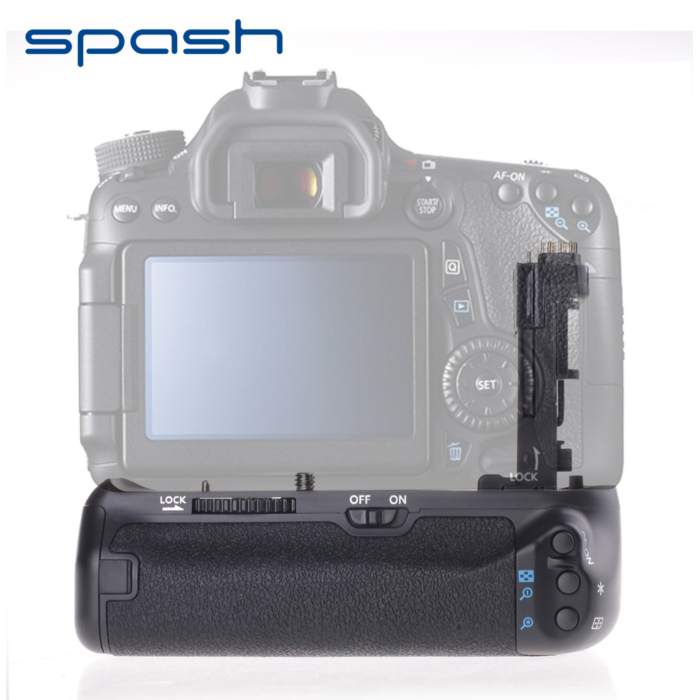 Spash multi-power pionowy uchwyt baterii do aparatu Canon EOS 70D 80D wymień BG-E14 bateria profesjonalna praca z LP-E6