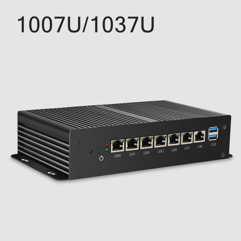 Image 2 - Firewall Router Mini PC Intel Celeron 1007U 1037U 4GB DDR3L RAM 60GB SSD 6*1000Mbps LAN RJ45 Pfsense Gateway Appliance-in Mini PC from Computer & Office