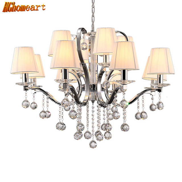 Hghomeart Modern Luxury Large Crystal Chandelier Er Design Led Lamp Living Room Nursery Chandeliers Baby Shine Suspension