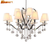 HGHomeart Modern Luxury Large Crystal Chandelier Luster Design LED Lamp Living Room Nursery Chandeliers Baby Shine