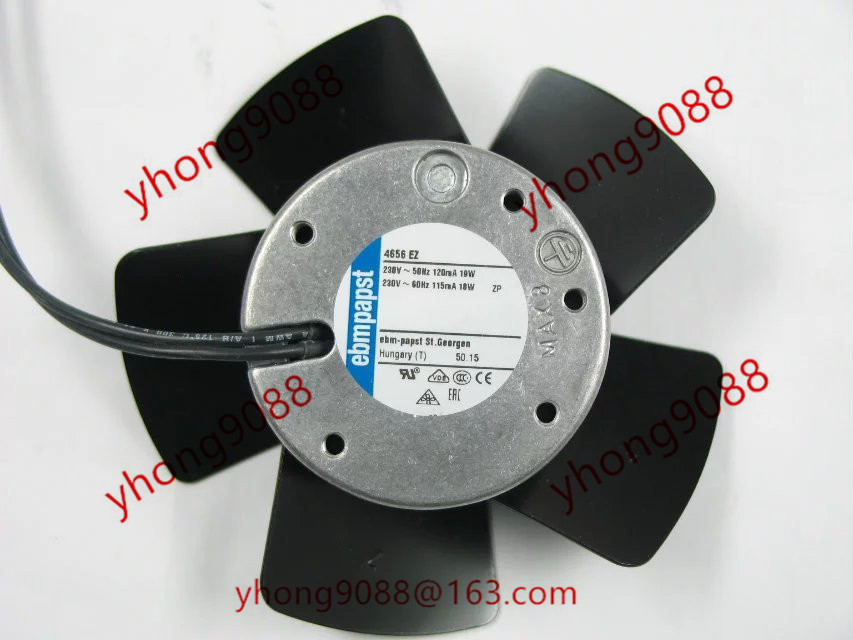 ebmpapst 4656 EZ 4656EZ Στρογγυλός ανεμιστήρας AC 230V 18W 19W 50Hz 60Hz