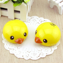 Cute Cartoon Yellow Duck Travel Glasses Plastic Contact Lenses Box Travel Contact lens Case Eyes Care Kit Holder Container Gift(China (Mainland))