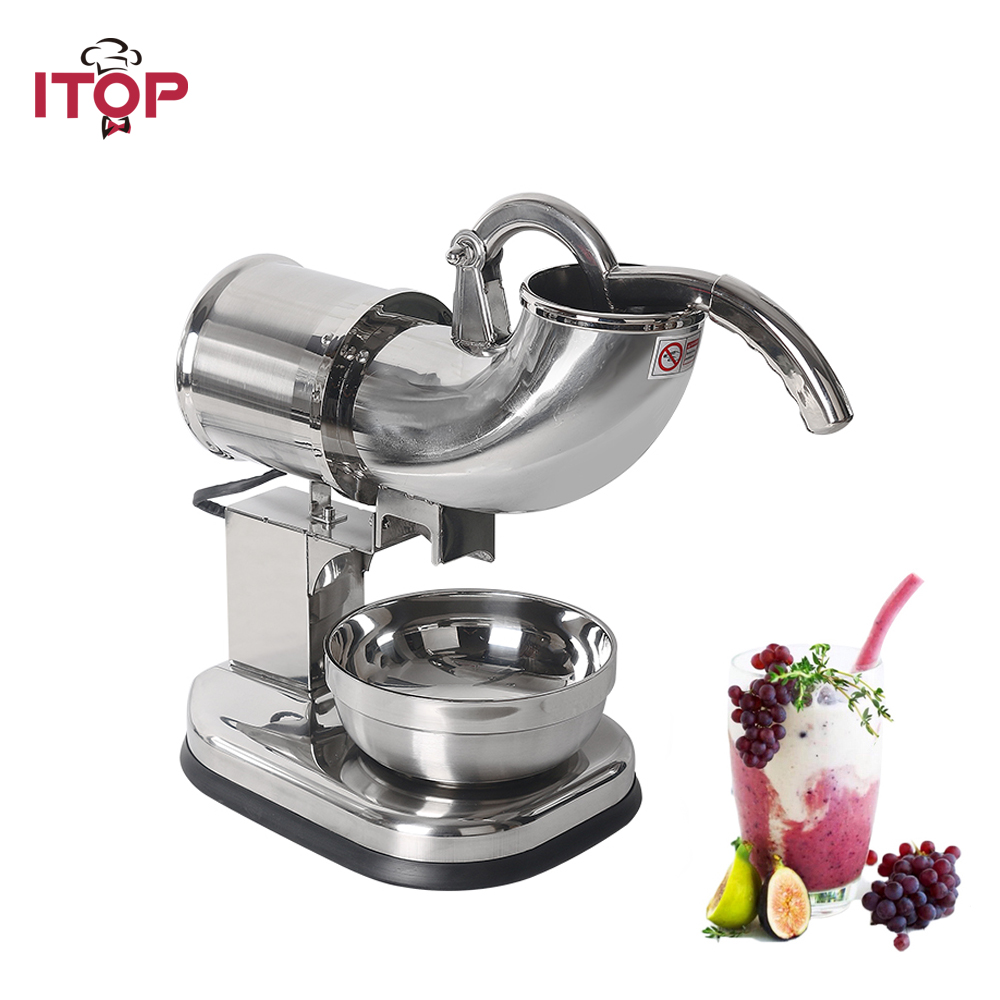 ITOP Ice Crusher Shaver Machine Electric Snow Cone Maker Stainless Steel Shaved Ice Machine 145lbs Per Hour цены онлайн