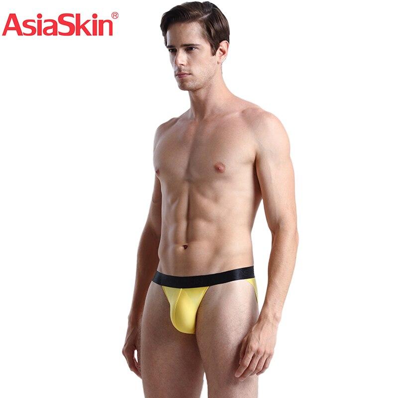 AsiaSkin Ultrathin Ice Wide Waist High Open Underwear Sexy Buttock Triangle For Men 002KB