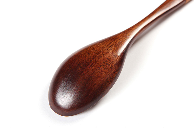Wooden Spoons Soup Spoon Tableware Natural Tea Coffee Spoon Ellipse Dessert Spoon Japanese Style with Kinking (10)
