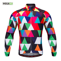 WOSAWE Long Sleeve Cycling Jersey 100 Polyester Outdoor Sports Bike Clothing Ropa Ciclismo DH Spring Autumn