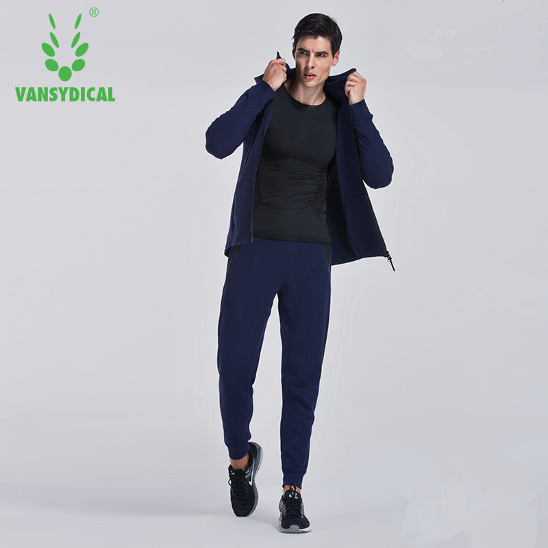 Mens Athletic Full Zip Running Training Tracksuit Jogging Sweatsuit Activewear Hooded Top Plus Size 3XL 1