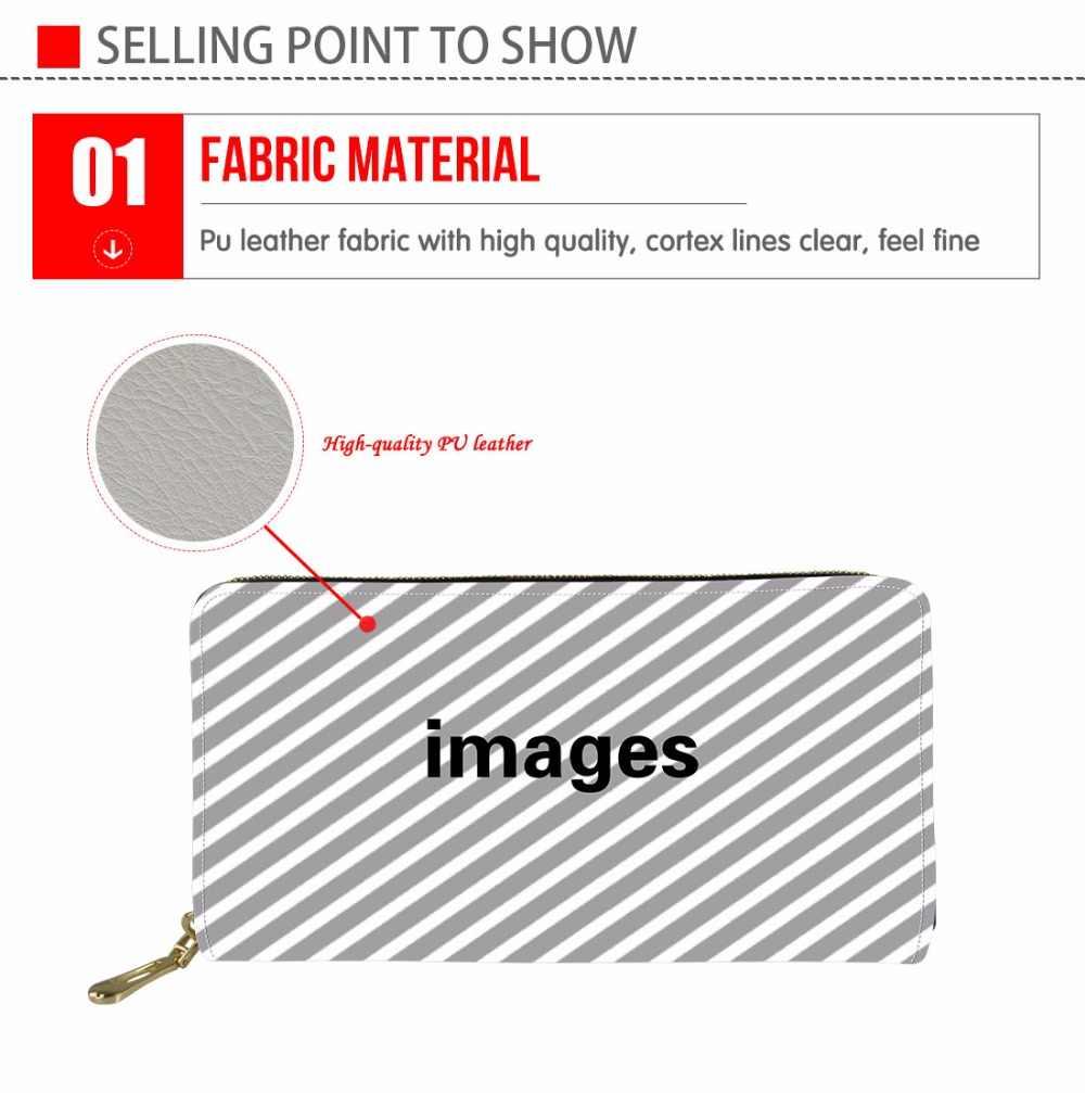 medium resolution of  instantarts funny fruit avocado 3d printing woman long pu leather wallet brand design female card holder