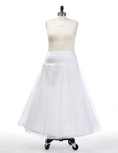 Image 2 - Hot Bridal Slips Wedding Underskirt White Underdress Falda Brautpetticoat Long Crinoline Sottoveste A Line Petticoat Layer 0019