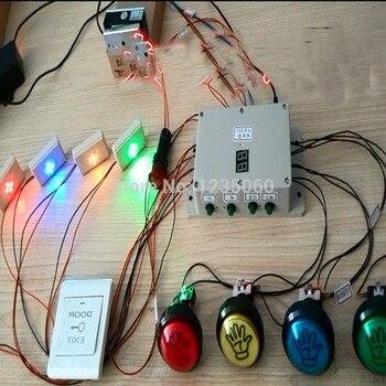 Herramientas de sala de escape de la vida real luz colorida recuerdo y botones coloridos Accesorios para Juego Takagism
