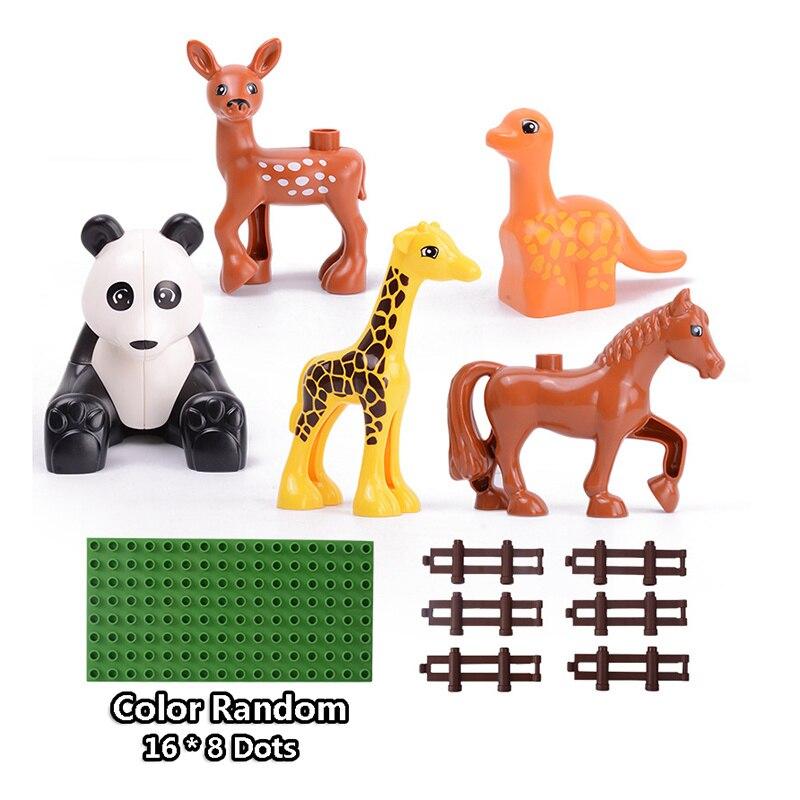 13-109pcs Large particles City Transport Team Car Model Series Building Block Bricks Compatible Duploe Toys for children Kids GIft (24)