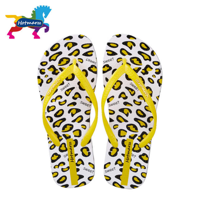 b7c2ca98e887 placeholder Hotmarzz Women Sandals Summer Designer Flip Flops Flat Leopard  Print Beach Shoes Ladies Spa Yoga Slides