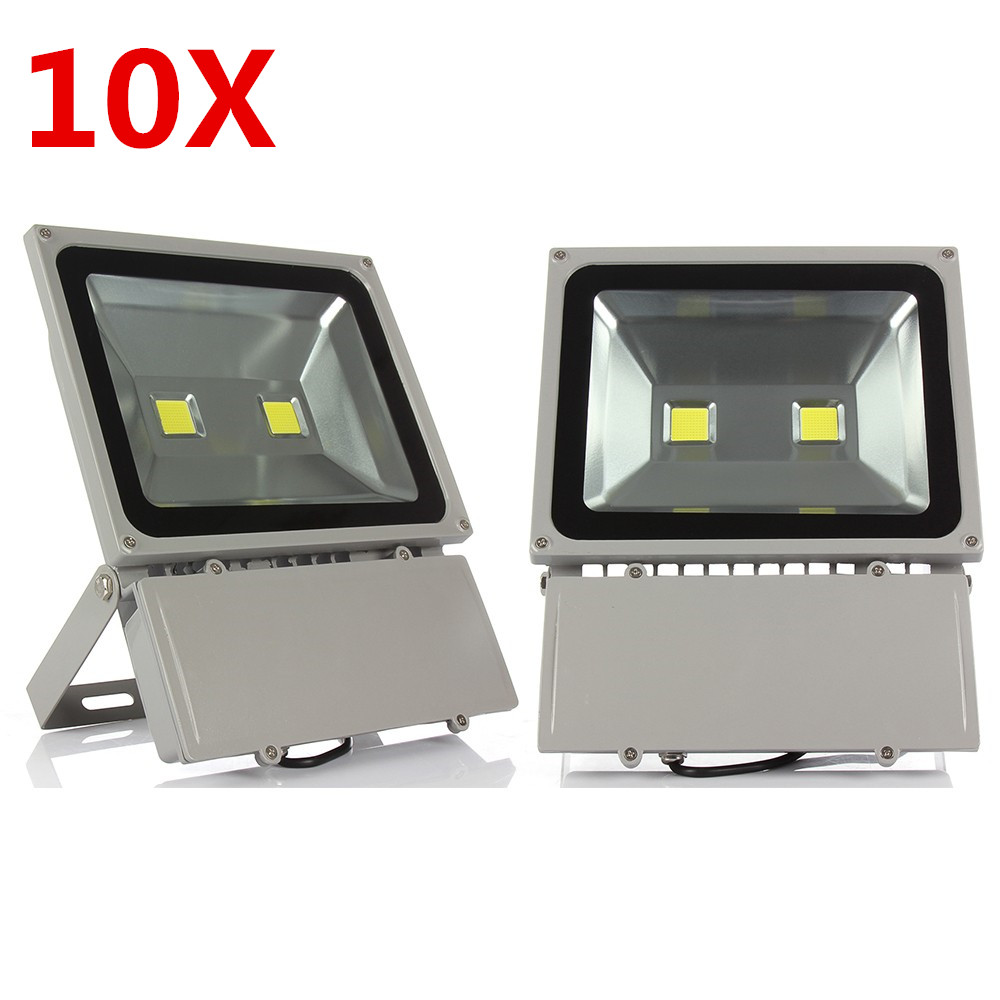100W Led Flood Light High Power Led Spotlight Outdoor Lighting Waterproof IP66 AC85-265V Led Floodlight 10PCS ultrathin led flood light 100w 70w white ac85 265v waterproof ip66 floodlight spotlight outdoor lighting projector freeshipping