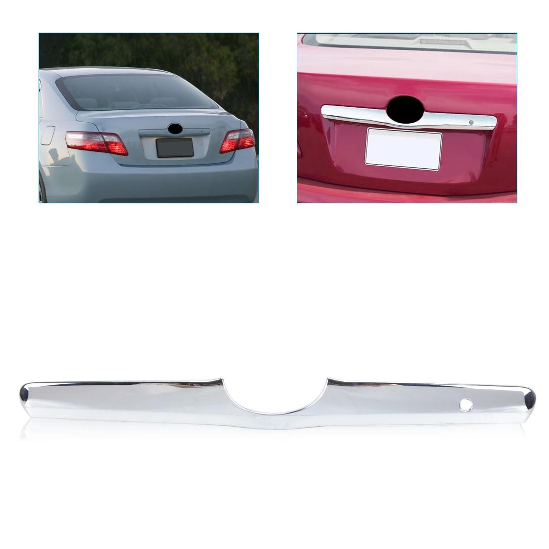 beler ABS Triple Chrome Tailgate Trunk Hatch Trim Bezel Cover for Toyota Camry 2006 2007 2008 2009 2010 2011 car auto accessories rear trunk trim tail door trim for subaru xv 2009 2010 2011 2012 2013 2014 abs chrome 1pc per set