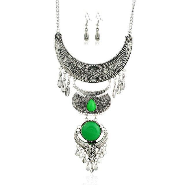 Lzhlq 2019 винтажное резное геометрическое ожерелье с кисточкой