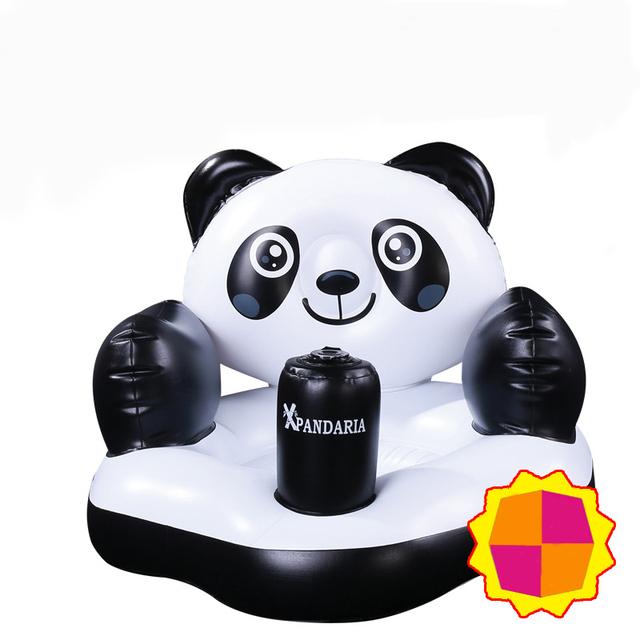 Criativo Inflável Assento Do Bebê Cadeiras de Fezes De Banho Panda Pequeno Aprendizagem Bancos Pouco Sofá para 3 Meses Do Bebê