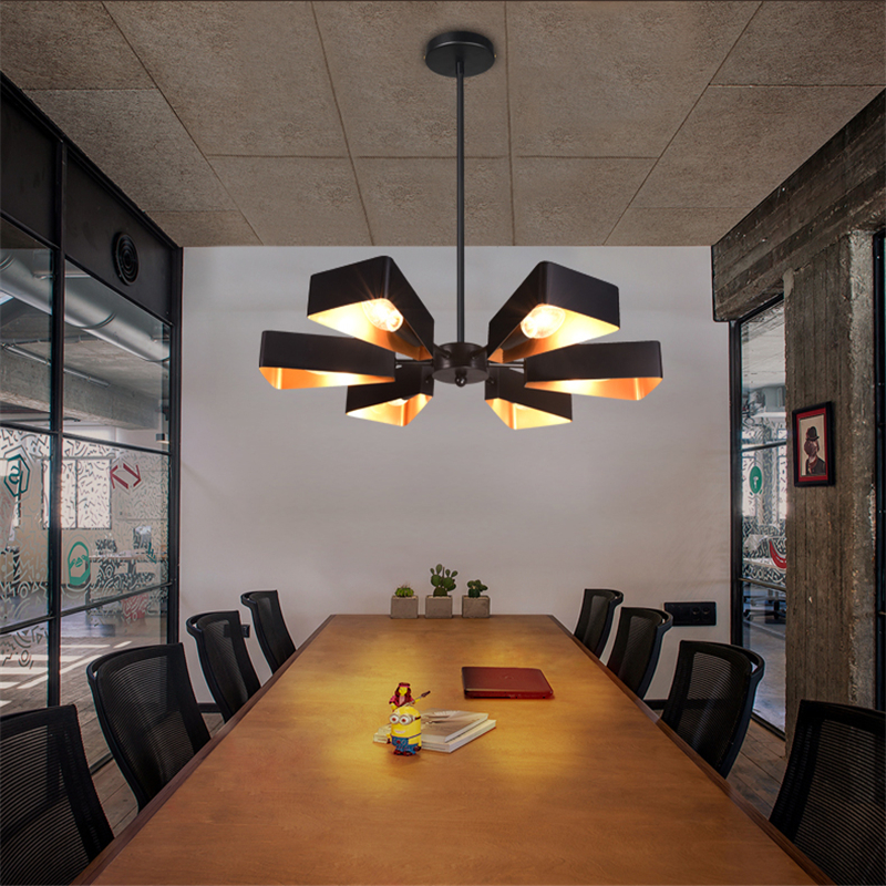 все цены на  Black Pendant Lights Project Brand Design Vintage Bar Cafe Suspension Luminaire Art Deco Drop Light Wrought Iron Nordic Creative  в интернете