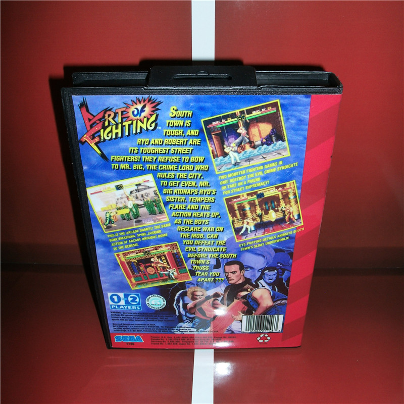 Art Of Fighting Us Cover With Box And Manual For Sega Megadrive