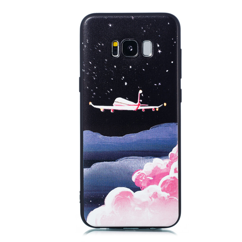 Cover For Samsung Galaxy S8 Plus Case Soft TPU coloured drawing painting Wind chime Feather Starry sky Fashion Mobile Phone Case in Half wrapped Cases from Cellphones Telecommunications
