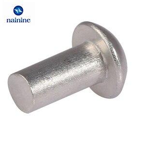Image 4 - 875Pcs/lot M2 M3 M4 GB867 Round Aluminum Solid Rivet Alloy Self plugging Rivet Kit HW173