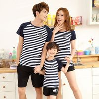 Children Clothing Sets Summer Family Clothing Sets Boy Girl Clothing Kids Clothes Mother Father Spring Casual
