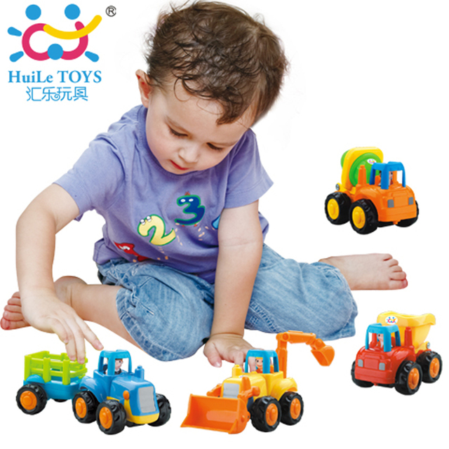 huile toys 326 set of 4 baby toy truck vehicle pull back car model children playing