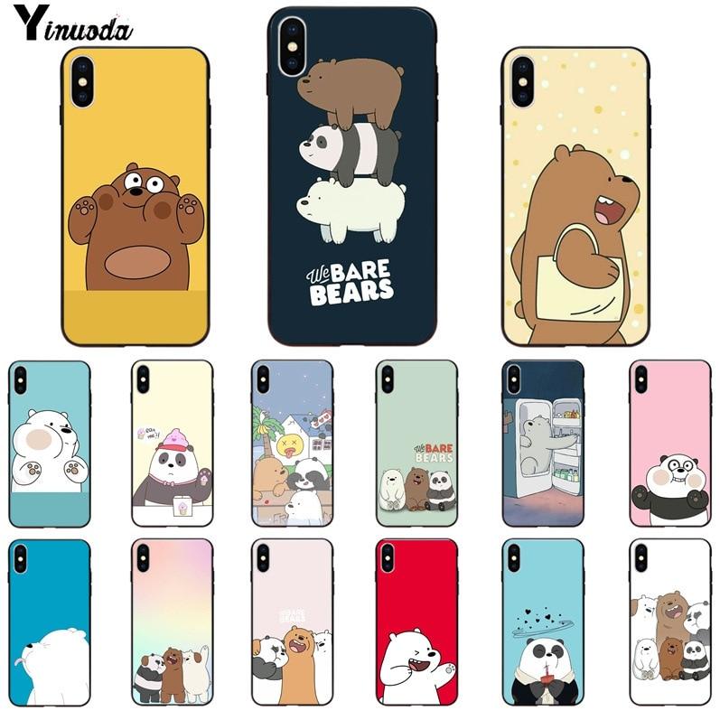Yinuoda we bare bears lovely cartoon Custom Photo Soft Phone Case for Apple iPhone 8 7 6 6S Plus X XS MAX 5 5S SE XR Cover