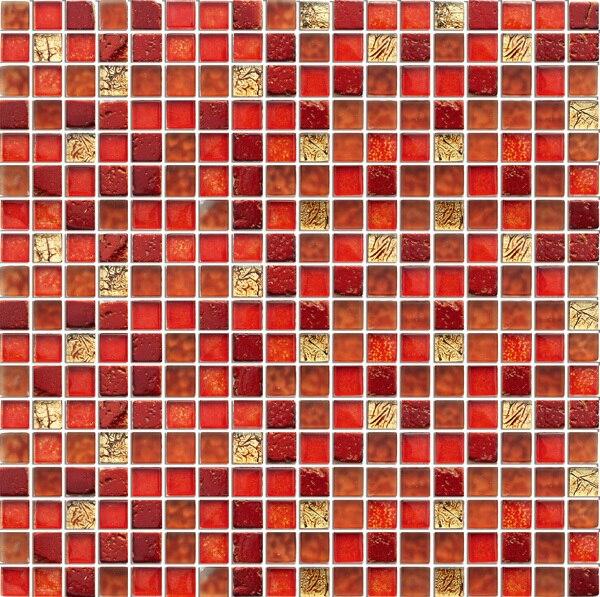 Acquista rosso mosaico di vetro di - Bagno mosaico rosso ...