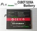 100% nuevo cubot s208a batería 2000 mah batería de reserva para el teléfono celular en stock cubot s208a + + número de pista