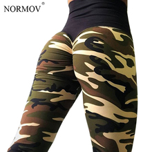 NORMOV Sexy High Waist Leggings Women Fitness Clothing Workout Push Up Leggings Sportswear Camo Printed Pants Trousers Female