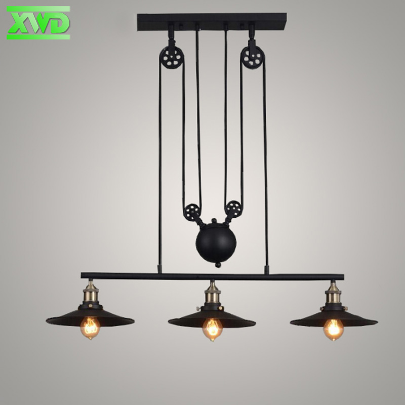 Vintage Iron Hotel Hall Pendant Lamp E27 Lamp Holder 110-240V Dining Room/Coffee Shop/Bar/Club/Parlor Indoor Pendant Lights vintage wicker pendant lamp hand made knitted hemp rope iron coffee shop pendant lamps loft lamp american lamp free shipping