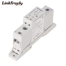 цена на TRD060D10K 10A Smart Din Rail SSR Solid State Relay 5V 12V 24V 32VDC Input 1-60VDC Output Board Module Relay Control Voltage