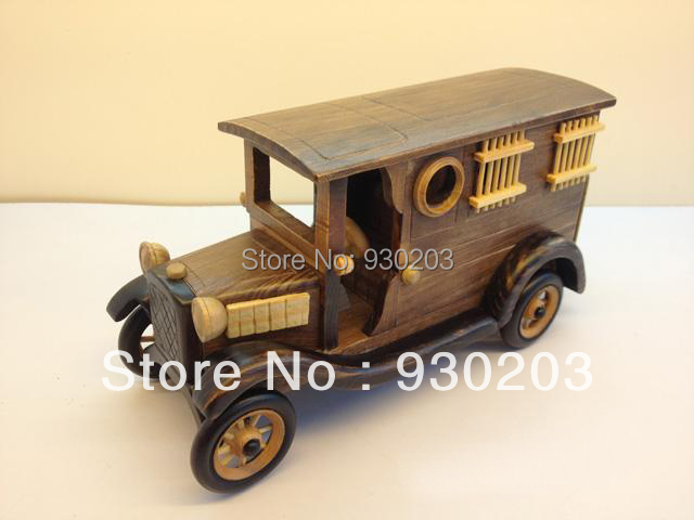 HandMade Wooden Decorative Home Accessory Vintage  Prison Truck Van Model