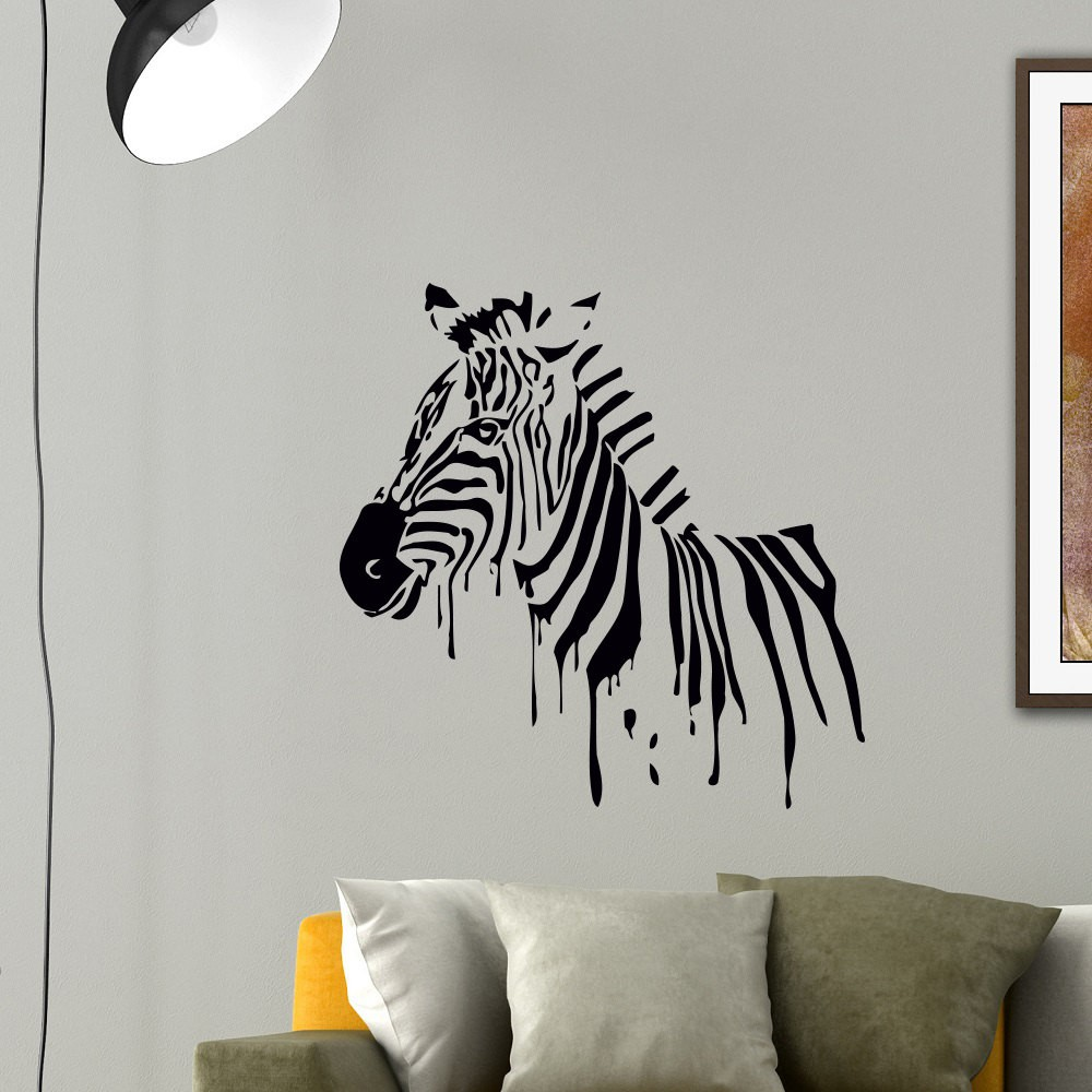 Online buy wholesale jungle wall decor from china jungle for Diy room decor zebra