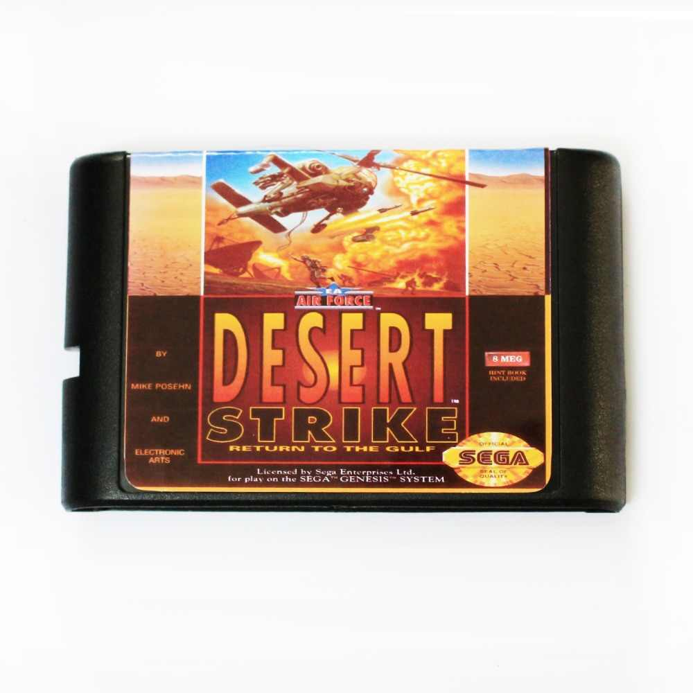 Desert Strike 16 bit MD Game Card For Sega Mega Drive For SEGA Genesis
