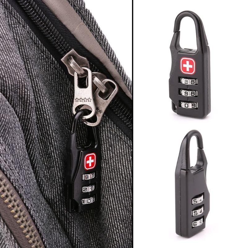 1 шт швейцарский крест символ комбинированный безопасный код мини-замок для Чемодан молнии сумка рюкзак сумка чемодан ящика