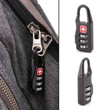 1PCS Swiss Cross Symbol Combination Safe Code Mini Padlock for Luggage Zipper Bag Backpack Bag Suitcase Drawer(China)