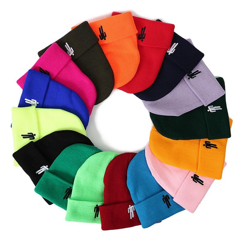 Dropshipping Billie Eilish Cotton Casual Beanies For Men Women Knitted Winter Hat Solid Hip-hop Skullies Bonnet Unisex Cap OC721