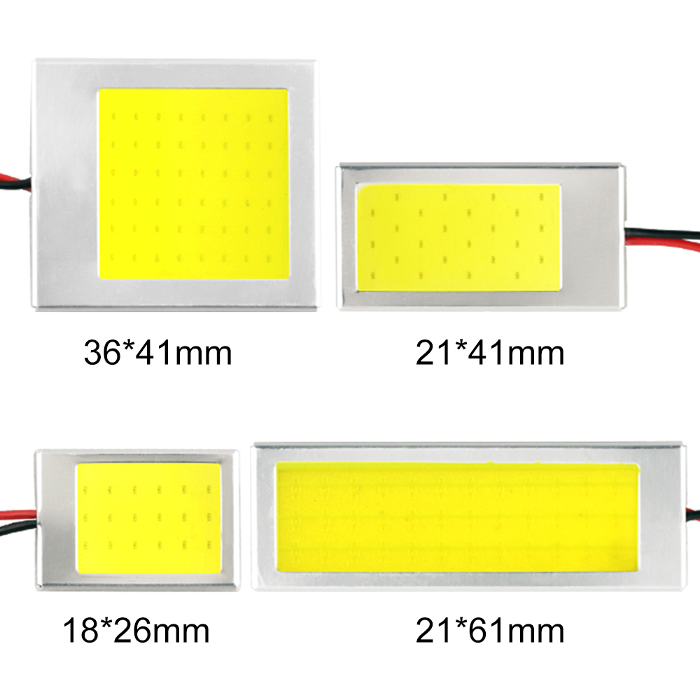 1 Piece W5W T10 C3W C5W C10W BA9S Festoon LED COB LED Panel Dome Lamp Auto Car Interior Reading Plate Light Ceiling Wired Lamp in Signal Lamp from Automobiles Motorcycles