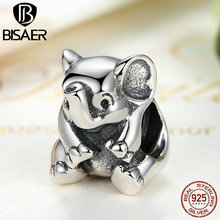 925 Sterling Silver Charms Animal Lucky Elephant Charms Fit Original Pandora Charms Bracelets & Bangles Fine DIY Jewelry Making